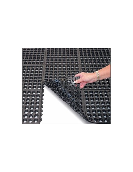Interlocking Rubber Ring Mat, 14mm thick -