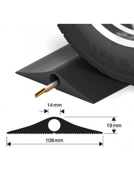 Industrial Cable Protector, Type A, 108mm x 19mm (9m length) -