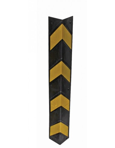 Square Rubber Corner Protector, 800mm x 141mm x 141mm -