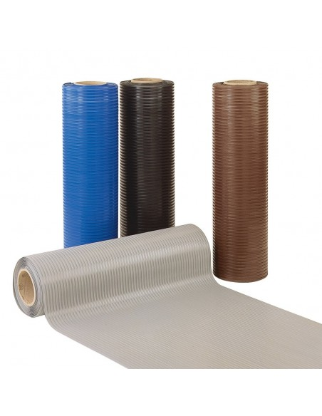 Flexi Tred Ribbed PVC Matting, 4mm thick -