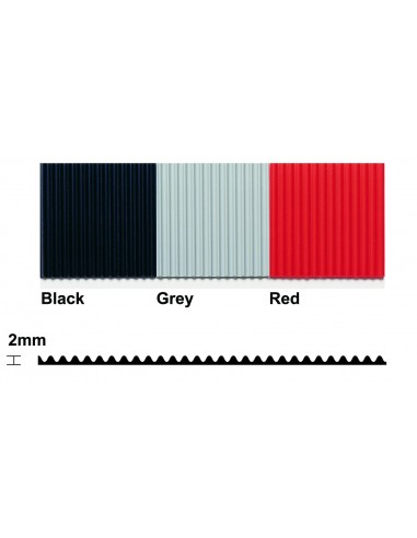 Flexi Line Ribbed PVC Matting, 2mm thick -