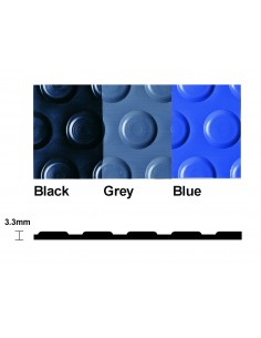 Flexi Button Studded PVC Matting, 3.3mm thick -