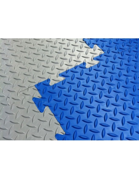 CheckerLok Interlocking PVC Floor Tile, 12mm thick -