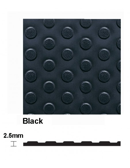 Eco Dot Extra Studded PVC Matting, 2.5mm thick