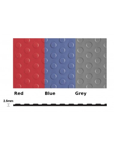 Flexi Dot Extra Studded PVC Matting, 2.5mm thick